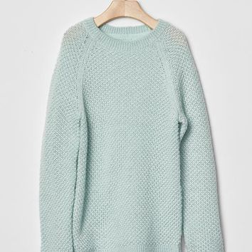 Gap Girls Metallic Lurex Raglan Sweater