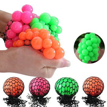 New Anti Stress Ball Novelty Fun Splat Grape Venting Balls Squeeze Stresses Reliever Toy Funny Gadgets Gift Fidget Cube FL