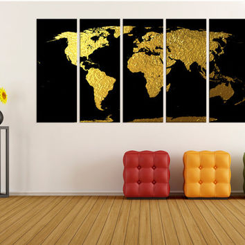 Best large map decals products on wanelo large gold world map wall art print map canvas print extra lar gumiabroncs Gallery