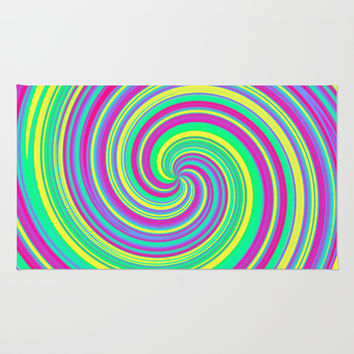 Psychedelic Swirl Rug by Moonshine Paradise