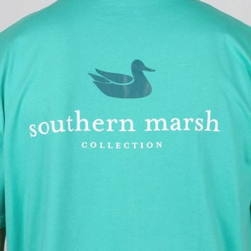Authentic Tee in Jockey Green by Southern Marsh