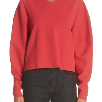 Stella McCartney Zip Sleeve Milano Stitch Sweater | Nordstrom