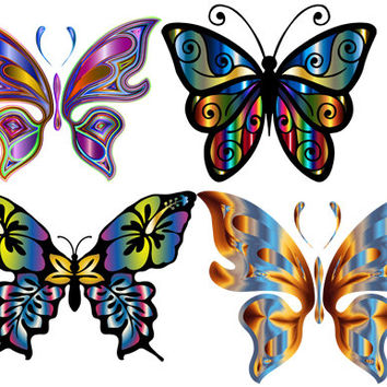 Prisms butterflies irredecent Digital Collage Sheet Image graphics Printable Download Iridescent die cuts cut outs crafts scrapbooking paper