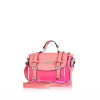 River Island Girls pink jelly satchel bag