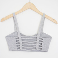 Striped Cage Bralette - Large