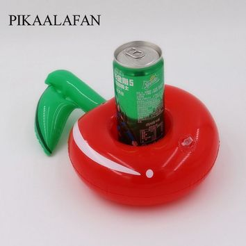 PIKAALAFAN Swimming Pool Party Floating Inflatable Drink Cup Seat Cherry Inflatable Cup PVC Security Inflatable Water Coaster