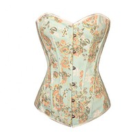 Light Blue Floral Design Corset