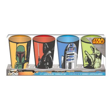 Star Wars Lenticular Tumbler Set (4 Pieces)