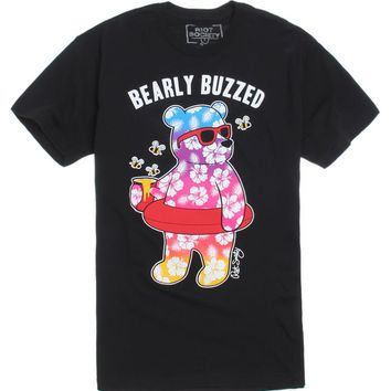 Riot Society Bearly Buzzed T-Shirt - Mens Tee - Black