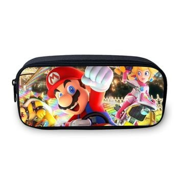 Super Mario party nes switch VEEVANV Cartoon  Printing Pencil Case Brand Girls Wallets Boys Stationery Box School Office Pen Pouch Children Purse AT_80_8