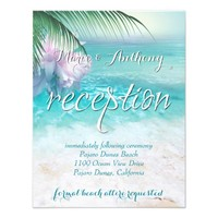 SPARKLING OCEAN WATERS Reception Card