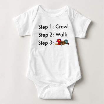 Crawl Walk Sports Baby Bodysuit