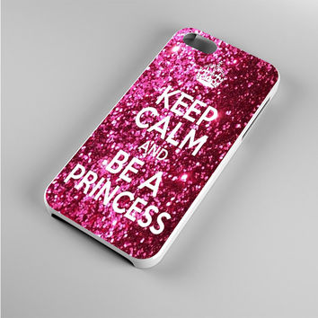 Keep Calm and Be a Princess Glitter Iphone 5s Case