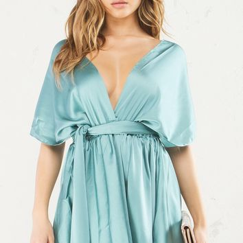 HAVEN MULTI WRAP SATIN DRESS - What's New
