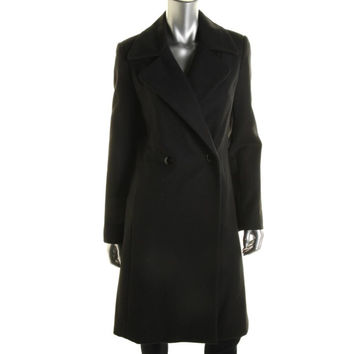 Catherine Malandrino Womens Notch Collar Double Breasted Trench Coat