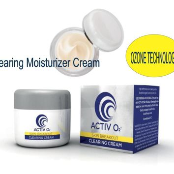 ACTIVO2 Clearing Moisturizer Cream Acne Solution Reduces Blemishes Existing Scars
