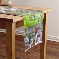 Transylvania, Romania, Picturesque Painted Scenery Short Table Runner