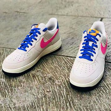 Nike Air Force1 suede mesh nylon fabric, more durable grey purple