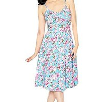 Bernie Dexter Dress in Cherry Blossom Retro Inspired little peek-a-boo M Medium