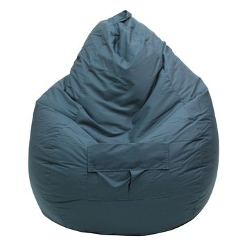 Large Tear Drop Demin Look Bean Bag with Pocket Dark Green