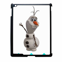 Olaf Disney Frozen Blue Chevron iPad 3 Case