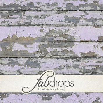 FabFloors™ - Weathered Light Orchid Paint - Old Looking Distressed Wood Floor Photography Floor Drop For Portraits, Studio Shoots (FF0517)