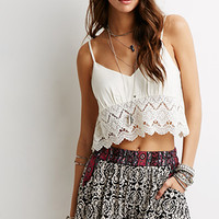 Ornate Print Elasticized Shorts