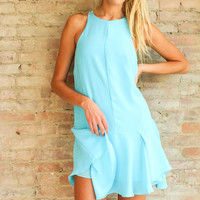 Date in Paradise Dress - Ocean Blue