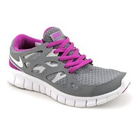 Nike Free Run+ 2 Grey Purple Women's Running Shoes