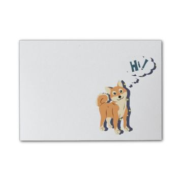 Thoughtful Shiba Inu Post-it® Notes