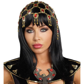 Headpiece Dazzling Gold-ruby