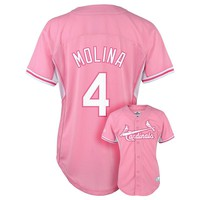 Majestic St. Louis Cardinals Yadier Molina Batting Practice MLB Jersey - Girls 7-16, Size: