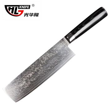 Japanese Damascus kitchen knives Nakiri knife for cooking chef knife vg10 couteau cuisine