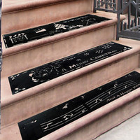 Set Of 3 Non-Slip Christmas Holiday Rubber Stair Tread Mats