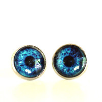 Evil Eye Earrings Yoga Jewelry Protection Blue Unique Gift for Her Birthday Under 20 Item E70