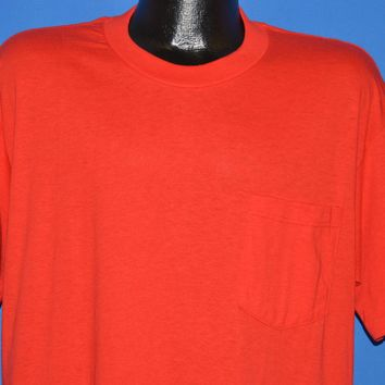 80s Red Blank Pocket Deadstock t-shirt Extra Large
