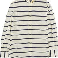 Preen by Thornton Bregazzi - Vali striped silk crepe de chine shirt