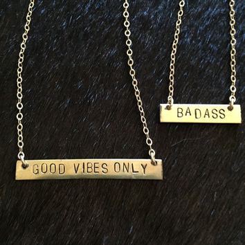 Gage Huntley // Horizontal Stamped Necklace