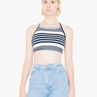 Striped Ponte Halter | American Apparel