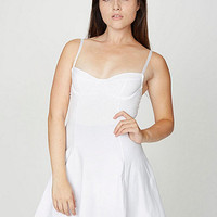 Cotton Spandex Underwire Bustier Skater Dress