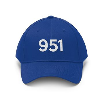 California 951 Area Code Embroidered Twill Hat