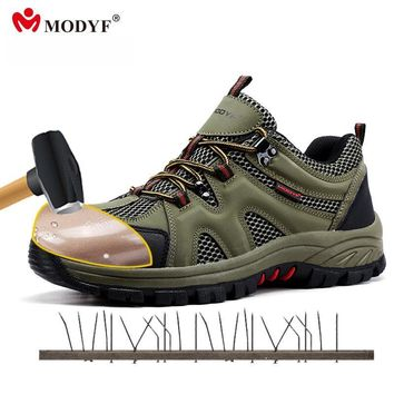 Modyf men Fall Winter steel toe cap work safety shoes casual breathable outdoor boots