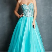 Strapless Ball Gown by Night Moves