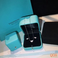 HCXX 19Sep 045 Tiffany Pea full diamond classic necklace Earring set