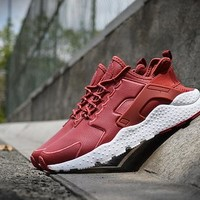 Nike Air Huarache 3 Wine Red men and women running shoes 36-44