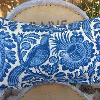 French Country Blue Birds pillow Cover