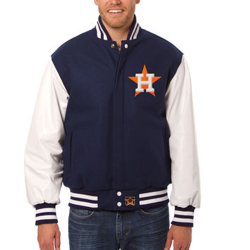 Houston Astros Wool And Leather Varsity Jacket