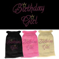 Rhinestone Knit Pet Sweater: Birthday Girl