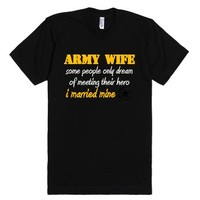 Proud Army Wife-Unisex Black T-Shirt