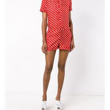 CARVEN   Printed Silk Playsuit   brownsfashion.com   The Finest Edit of Luxury Fashion   Clothes, Shoes, Bags and Accessories for Men & Women